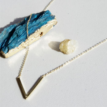 Gold Plated Sterling Silver 'V' Necklace
