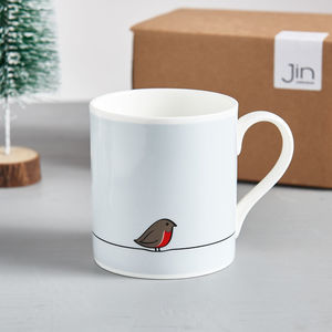 Robin Mug, Fine Bone China