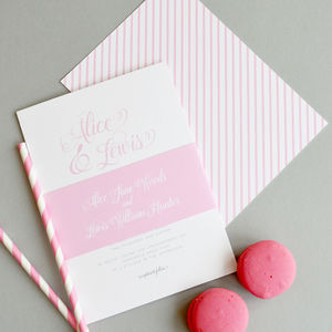 Simple Stripes Wedding Invitation