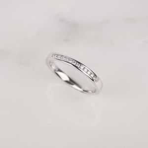 18ct White Gold Channel Set Diamond Ring