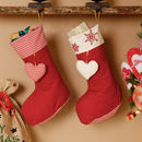 French Chalet Set Of Three Christmas Stockings