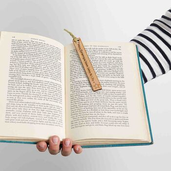 Personalised Grandparent's Wooden Bookmark