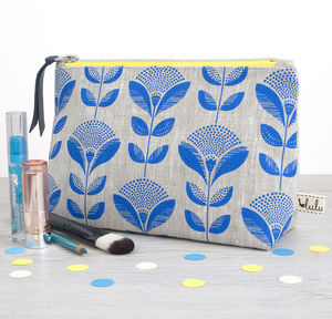 Make Up Bag With Dandelion Print