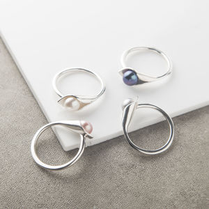 Calla Lily Pearl Ring - rings