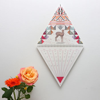 2018 Wall Calendar Triangle