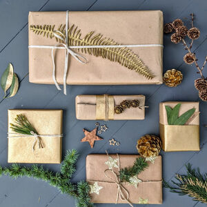 100% Recyclable Brown Kraft Wrapping Paper, 10m