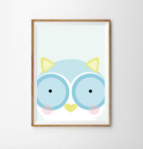 Owl Children's Print - new in home