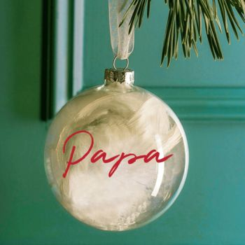 Personalised Family Name Bauble