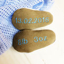 Personalised Leather Mouse Baby Shoes