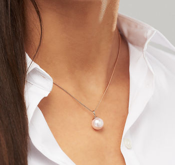 Rose Gold Pearl Necklace by Claudette Worters