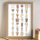 Beer Alphabet Print Unframed