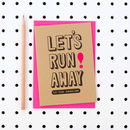 'Let's Run Away To The Seaside' Husband Wife Card