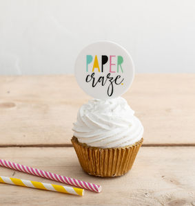 Custom Printed Branded Cupcake Toppers - decoration
