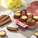 Dippy Chocolate Eggs With Mango Yolk