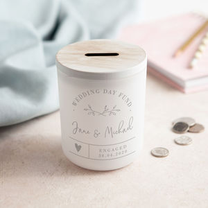 Money Box Wedding Fund Personalised