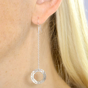 Geometric Circle Earrings - earrings