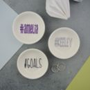Hashtag # Personalised Mini Jewellery Dish Teenage Gift