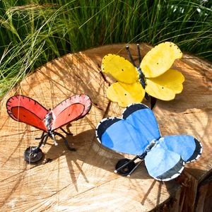 Three Butterfly Garden Sculptures - art & decorations