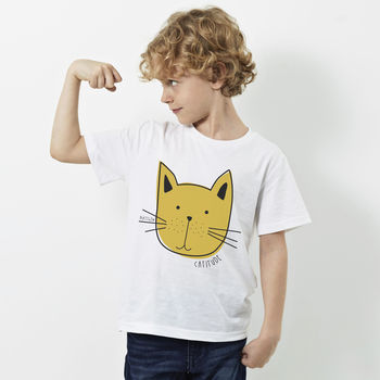 Personalised Children's 'Cat' T Shirt
