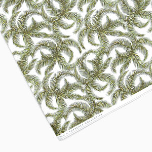 Tropical White Palm Wrapping Paper