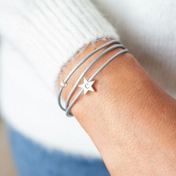 Arlena Multi Wrap Leather Star Bracelet
