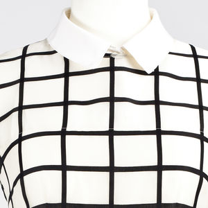 Crêpe De Chine Silk Collar - blouses & shirts