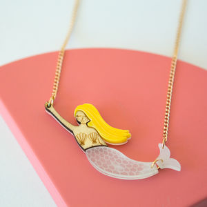 Acrylic Mermaid Sweet Thing Necklace - necklaces & pendants