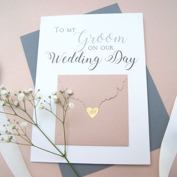 To My Groom Wedding Day Card