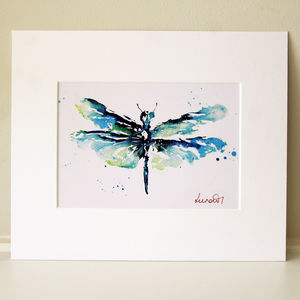 Dragonfly Print, Dainty Dragonfly - view all new