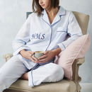 Personalised Women's Blue Cotton Pyjama's