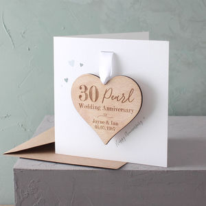 Anniversary Keepsake Heart Card