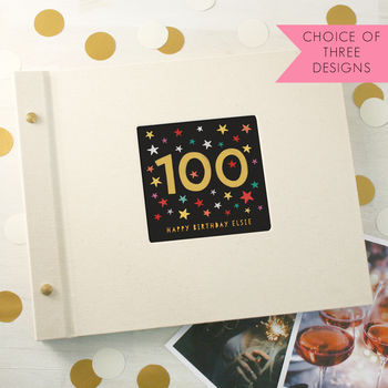 Personalised 100th Birthday Photo Album