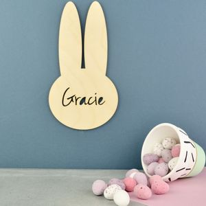 Personalised Nursery Door Sign Plaque Easter Bunny - for babies & children