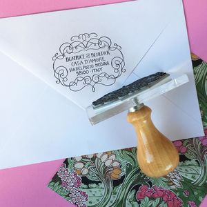 Personalised 'Much Ado' Border Address Stamp