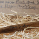 Wand with Printed Name by Lou Brown Designs