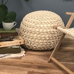 Macrame Pouffe Crochet Craft Kit - re-earthed