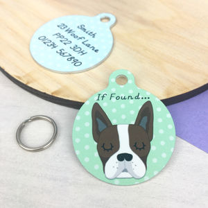 Boston Terrier Personalised Dog ID Tag