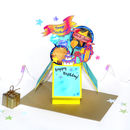 Personalised 3D Pop Up Birthday Box Card Yellow
