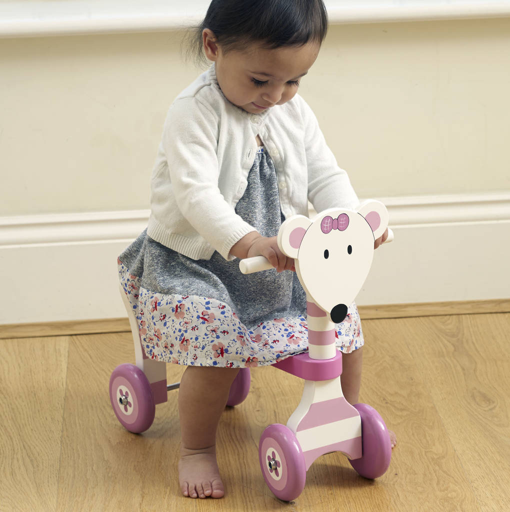 Personalised Wooden Mouse Ride On Trike