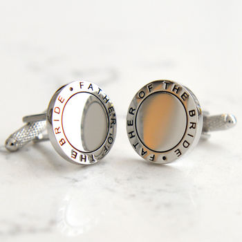 Father Of The Bride Round Cufflinks