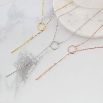 Adjustable Very Long Silver Or Gold Lariat Necklace