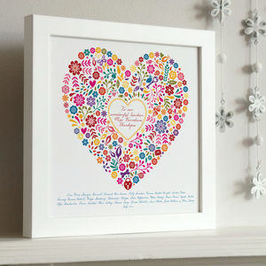 Framed Thankyou Teacher Heart Print