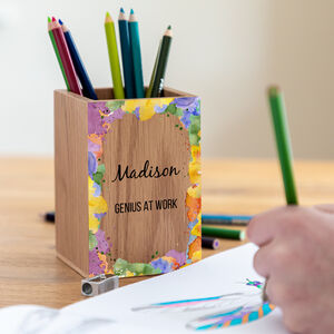 Personalised Multi Colour Pen Pot