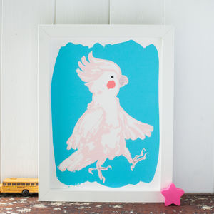 Cockatoo Art Print For A Child's Bedroom