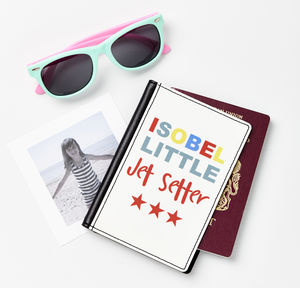 Child's Personalised Jet Setter Passport Cover - travel & luggage