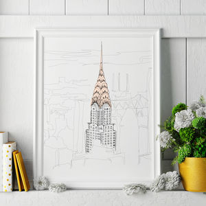 Chrysler Building Signed Print