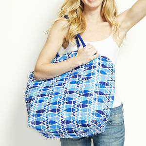 Blue Fish Beach Bag