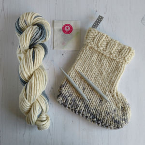 Knit Your Own Christmas Stocking Kit - stockings & sacks