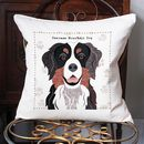 Bernese Mountain Dog Personalised Cushion Cover