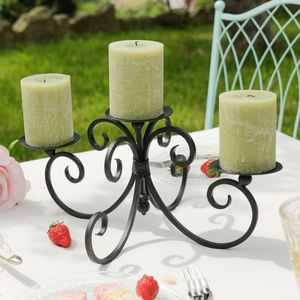 Three Pillar Iron Candle Display - tableware
